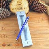 Isme Özel Steel Pen Mavi Kalem