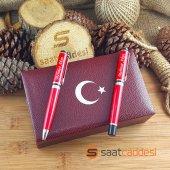 Isme Özel Steel Pen 2 Li Kırmızı Ay Yıldız...