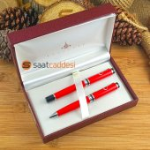 Steel Pen 2 Li Ay Yıldız Kalem Seti Kırmızı