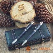 Steel Pen İsme Özel 2 Li Desenli Metal Kalem...