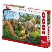Dino Puzle 1000 Parça Botswana Filleri Puzzle-2