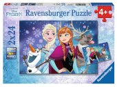Ravensburger 2x24 Parça Frozen Kuzey Işıkları Çocuk Puzzle