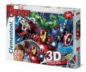 Clementoni 20606 3D Vision 104 Parça Avengers (Yenilmezler) Puzzle-2