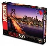 Ks Games 500 Parça San Francisco Köprüsü ve Günbatımı Puzzle-2