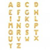 Gold Altın Sarısı Harf Folyo Balon 100 cm, A B C D E G H I J K L