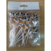 Mickey Mouse 16 Kişilik 13 Parça Doğum Günü Set Midi-2