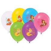 Winx Baskılı 12li Balon Winx 12inc Kız Parti Balonları
