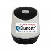 Frisby FS-P206BT Taşınabilir Mikrofonlu Bluetooth Kablosuz Bluetooth Beyaz Hoparlör Gerçek Ses Bombası