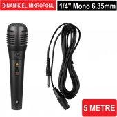 Frisby Fa 7910m Kablolu 5m Dinamik El Mikrofonu Amfi Ve Müzik Mikrofonu