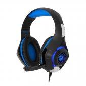 Frisby GAMEMAX FHP-G1460B Mavi Renk Mikrofonlu Gaming Oyuncu Kulaklığı Gaming Kulaklık Işıklı Ledli Çevirici Hediyeli