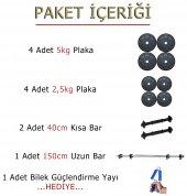 ECG Spor 35 kg Halter Dambıl Seti Ağırlık Seti Ağırlık Plakaları Fitness HEDİYELİ ÜRÜN-3