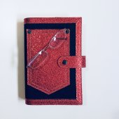Okurgezer Kitap Kılıfı Kırmızı Cepli