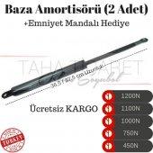 Baza Amortisörü 1500N (1Çift)+Emniyet Mandalı Hediye