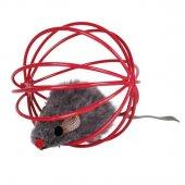 Trixie kedi oyuncağı, top içinde peluş fare 6cm-4