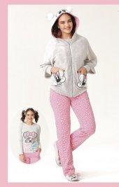 Aqua 18087 Bayan 3 Lü Pijama Takımı