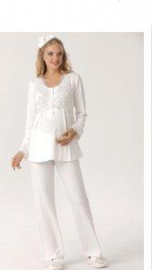 Aqua 18027 Bayan Dantel İşlemeli Lohusa Pijama Takımı