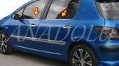 Peugeot 307 Krom Cam Çıtası 4 Parça 2001 Üzeri
