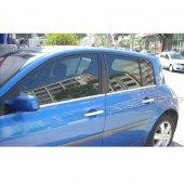 Renault Megane (Hb) Krom Cam Çıtası 4 Parça 2004 2010
