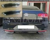 Volkswagen Passat B8 R Line Krom Egzoz Ucu 2 Parça 2014 Üzeri