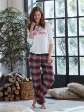 Penye Mood 8230 Bayan Ekoseli Pijama Takımı