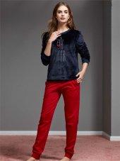 Catherınes 1137 Bayan Polar Pijama Takımı