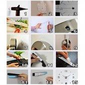 DIY 3D Dekoratif Sticker Duvar Saati-7