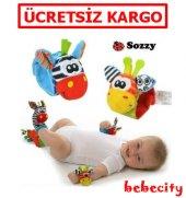 Sozzy 4lü Çıngıraklı Bebek Bileklik Ve Çorap Seti...