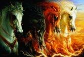Puzzle 2000 Parça / Mahşerin Dört Atı