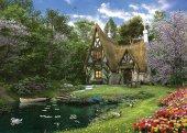 Puzzle 3000 Parça Göl Evi Spring Lake Cottage
