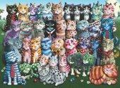 Puzzle 1000 Parça/Aile Toplantısı/Cat Family Reunion (Anatolian)