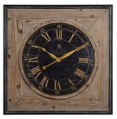 Ahşap Kare Dekoratif Duvar Saati 50x50