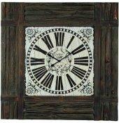 Ahşap Kare Dekoratif Duvar Saati 30x30