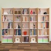 Nur Mobilya 5'li kitaplık Meşe-Beyaz