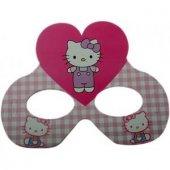 6 Adet Hello Kitty Karton Gözlük Kız Doğum Günü Parti Malzemesi