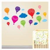 Uçan Balonlar 130x72 Cm. Duvar Sticker