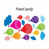 Uçan Balonlar 130x72 cm. Duvar Sticker-2