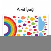 Renk Yağmuru 63x101 cm Duvar Sticker-2