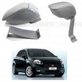 Fiat Grande Punto 2006-2011 Delmesiz Çelik Ayaklı GRİ Sürgülü Kolçak 8014365