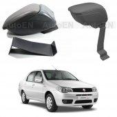 Fiat Albea 2005-2012 Delmesiz Çelik Ayaklı SİYAH Sürgülü Kolçak 8014388
