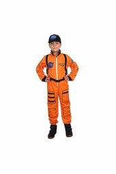 Turuncu Astronot Çocuk Kostüm 7 8 Yaş 1 Adet