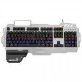 Frisby Gamemax Fk G550qu Gerçek Mekanik Klavye Blue Switch Oyun Modlu Bilek Destekli Animasyon Ledli Işıklı Metal Gövdeli Yeni Seri