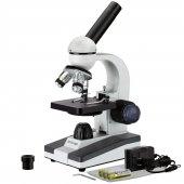 AmScope M150C-I 40X-1000X All-Metal Optical Glass Lenses Cordless