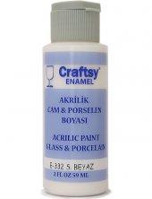 Craftsy Enamel Akrilik Cam Ve Porselen Boyası E 332 S.beyaz 59ml