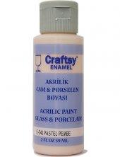 Craftsy Enamel Akrilik Cam Ve Porselen Boyası E 341 Pastel Pembe 59ml