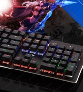 GAMEMAX GM-X560QU RGB Işıklı Gerçek Mekanik Gaming Oyuncu Klavyesi Blue Switch -2