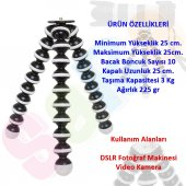 Nikon Dslr İçin 25cm Ahtapod Gorillapod Masa Tripodu D7000 D7200