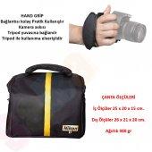 Nikon Omuz Çantası + Hand Grip Elcik D3400 D5500 D7200 D600