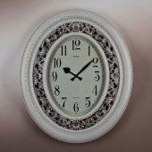 Regal Ultima 1638 Sı Oval Oymalı Eskitme Beyaz Renk Büyük Boy Saat