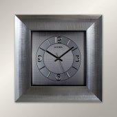 Regal Ultima 1388 Ss Parlak Gümüş Kalın Çerçeveli Duvar Saatı