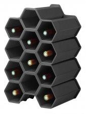 Eda Opticave Mini Cellar Şişe Rafı Modülü 3lü Antrasit-2